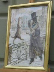 """самая зимняя и самая любимая картинка из серии """"Коты...""""."""