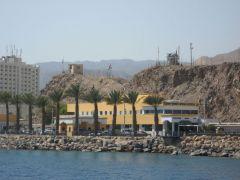 Израиль, Эйлат, прогулка на яхте, граница с Египтом
