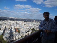 Вид на Париж с Эйфелевой башни