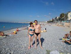На пляже в Ницце