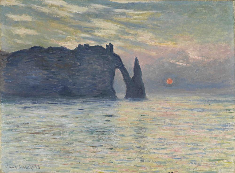 Klod-Mone-Claude-Monet-The-Cliff-Etretat.-Sunset-1867.jpg