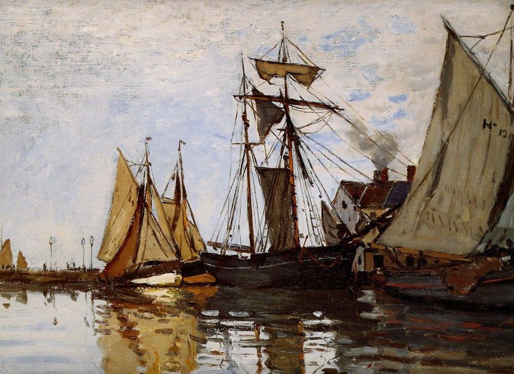 Клод Моне Лодки в порту Онфлёра.jpg