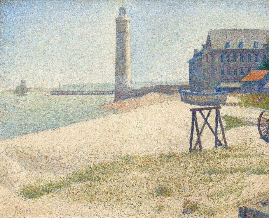 Жорж Сера Приют и маяк Онфлёра.jpg