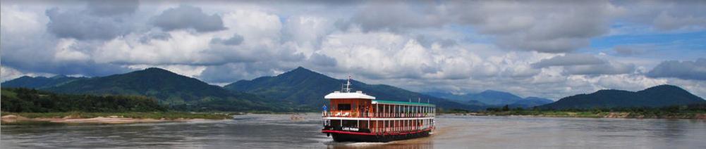 ЛАОС, Луанг-Прабанг. Кормление монахов и вояж по реке Меконг; обследование окрестностей