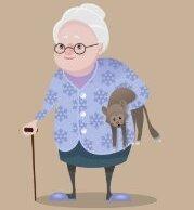 Бабка в кедах