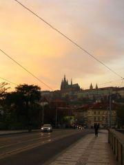 Закат над Пражским градом