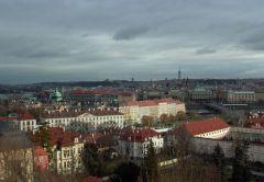 вид на Прагу с обзорной площадки