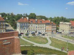 Вид на Варшаву с крепостных стен Старого города
